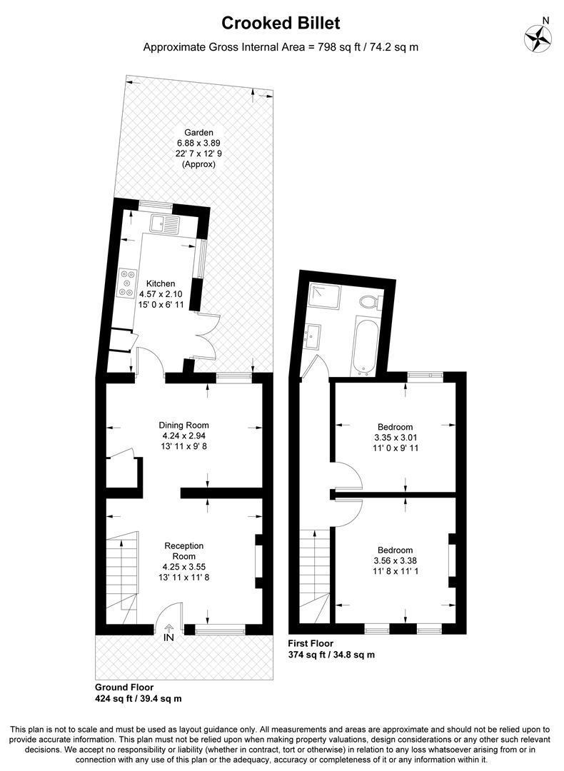 Floorplan for Crooked Billet, Wimbledon Village